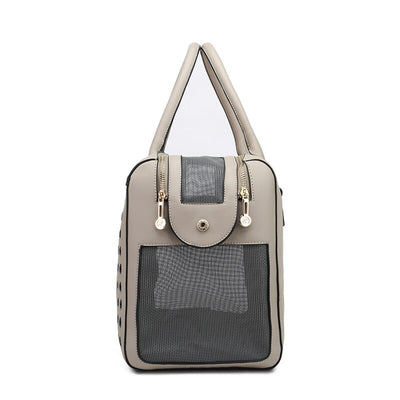 Luxury Pet Purse Travel Carrier Tote Bag Tan