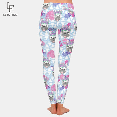 Frenchie Floral French Bulldog Leggings