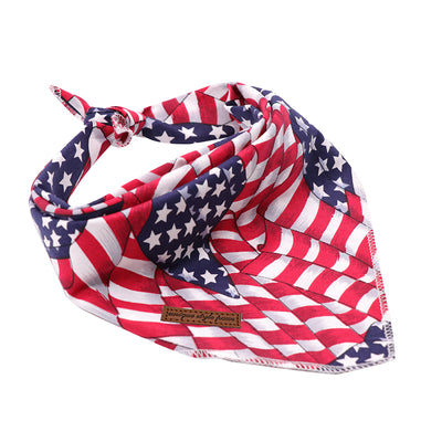 Polka Dot & Patriotic USA American Flag Bandana Set 2/pk