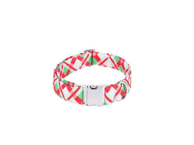 Christmas Plaid Dog Collar|Bowtie|Leash