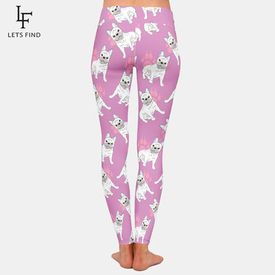 Frenchie French Bulldog Puppy Paws Leggings