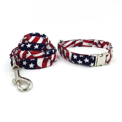 American Flag Dog Collar|Bowtie|Leash