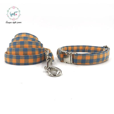 The Charleston Checkered Dog Collar|Bowtie|Leash