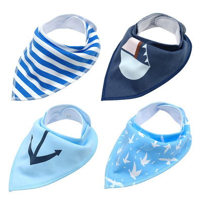 Nautical Furever Bandana Set 4/pk