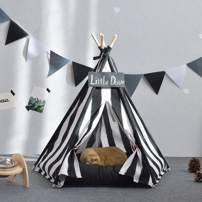 Black & White Referee Chic Pet TeePee