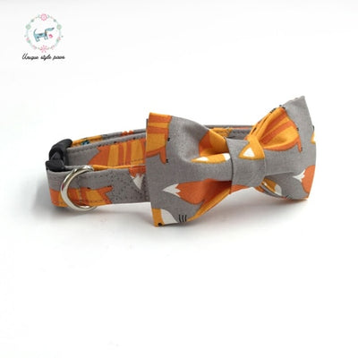 The Fancy Fox Dog Collar|Bowtie|Leash
