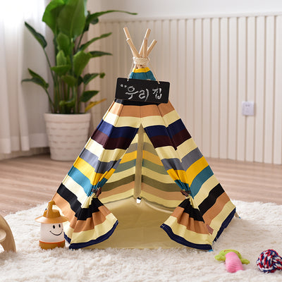 Colorful Striped Pet Teepee