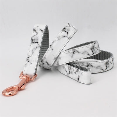 Marble Bowtie Dog Collar & Leash