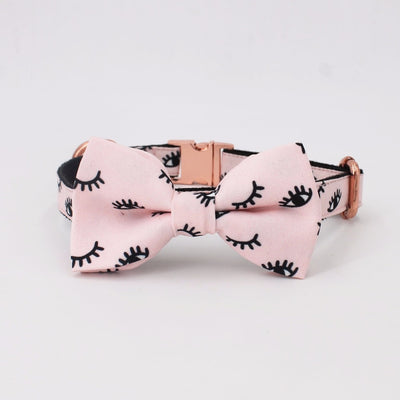 Lovely Lashes Bowtie Dog Collar & Leash