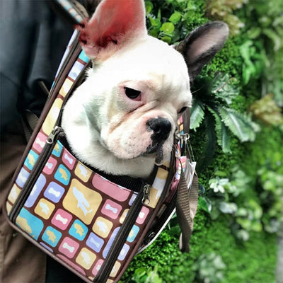 Luxury Pet Canvas Dog Carrier Backpack Bag Medium - 6 Colors