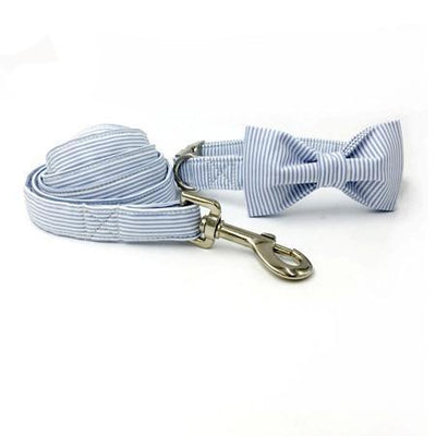 Sophisticated Stripes Dog Collar|Bowtie|Leash