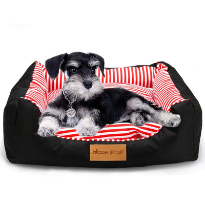 Lux Pet Bed Stripes or Dog Paw Print