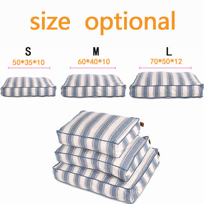 Blue Stripes Pet Bed