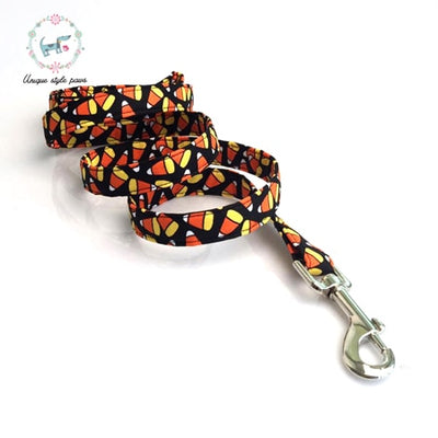 Halloween Candy Corns Dog Collar|Bowtie|Leash