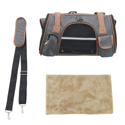 Luxury Travel Pet Canvas Carrier Small