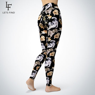 Cute Dog Print Leggings