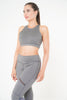 Isla Leggings in grey  with zip and back pocket detail by Melany K London