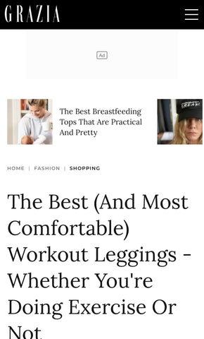 Grazia Magazine best and most comfortable fitness leggings 2021