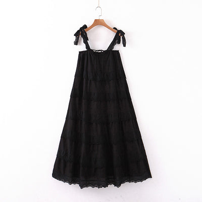 Riviera Black Tier Dress