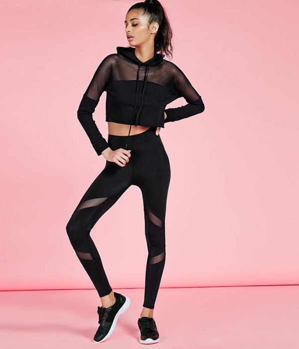 Midnight Black Super Sculpt High Waisted Leggings and Top