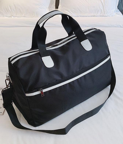 Black Nailah Sports Bag