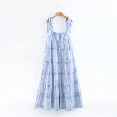Riviera Blue Tier Dress