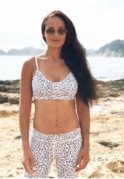 White Leopard Print Set