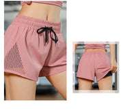 Urbano Pink Two Layer Running Shorts