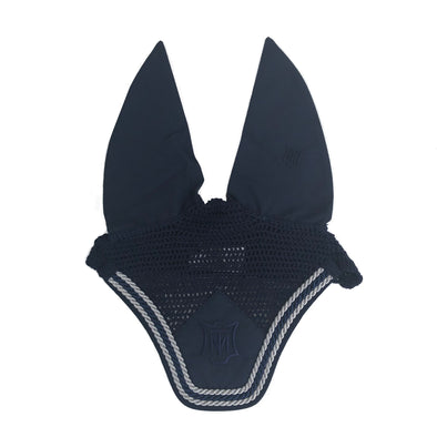 Mattes Navy & Silver Ear Bonnet
