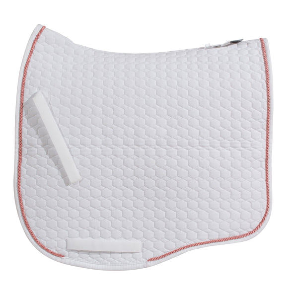 Mattes White & Bonbon (Rose Gold) Dressage Saddle Pad