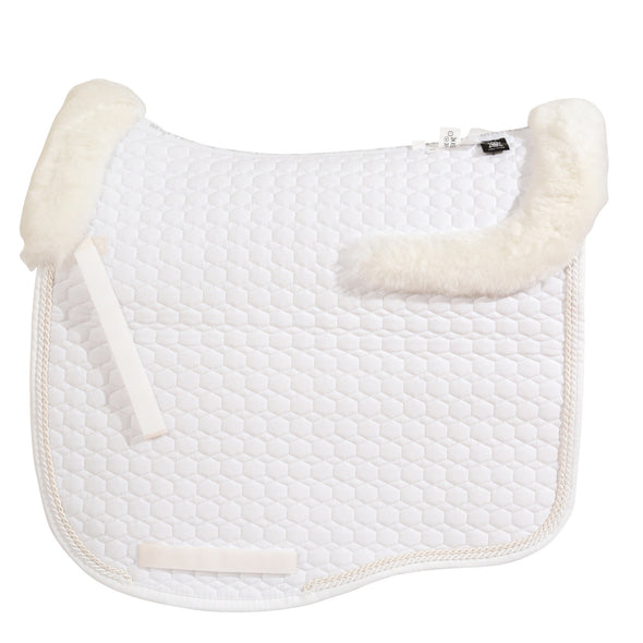 Mattes White & Pearl Dressage Saddle Pad - TOP FLEECE