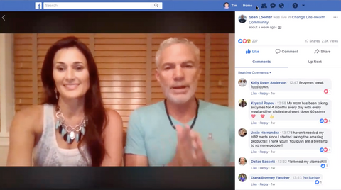 Sean and Tylene live Facebook talk about enzymes