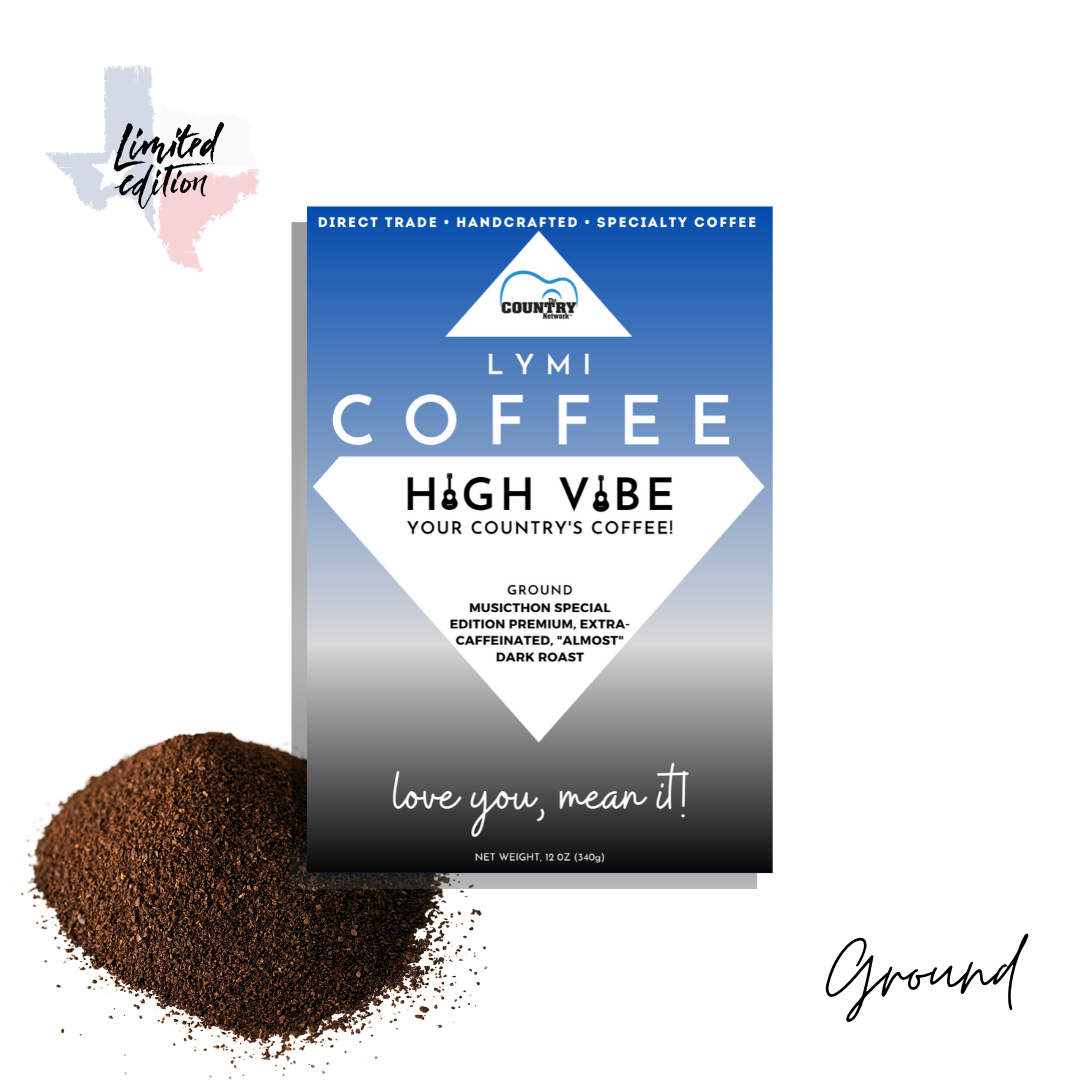 Limited Edition BLUE🔹LABEL HIGH VIBE 'Almost' Dark Roast Coffee (12oz)