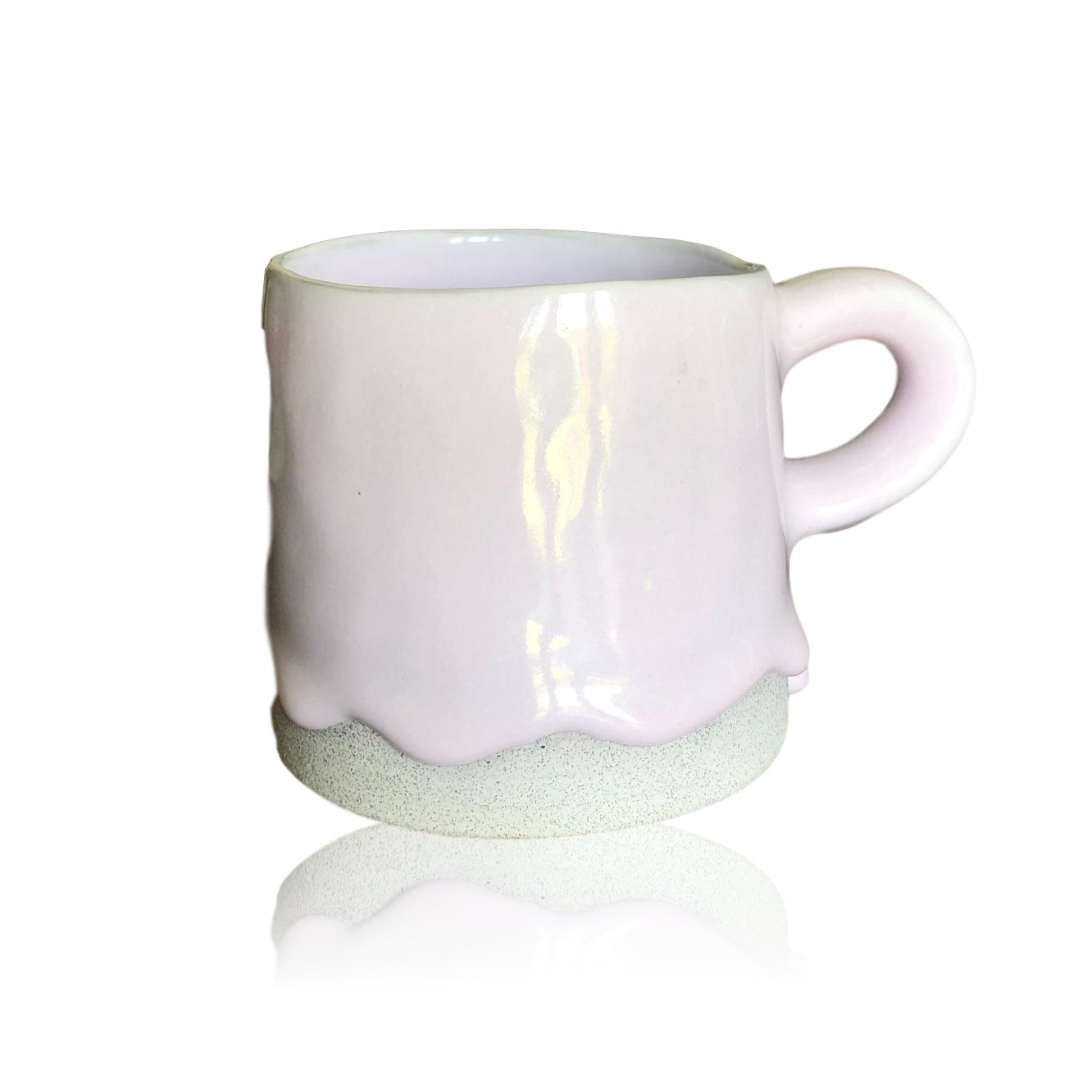 One-Drop Lavender Ceramic Cylinder Mug