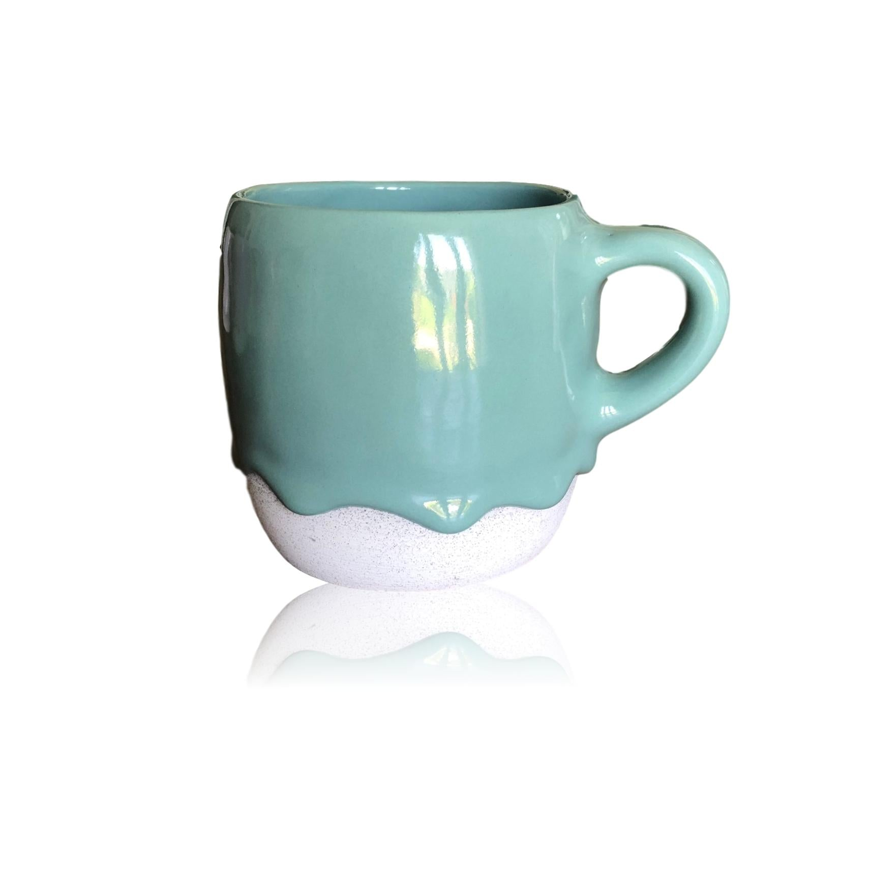 Teal Candy Ceramic Rounded Mug