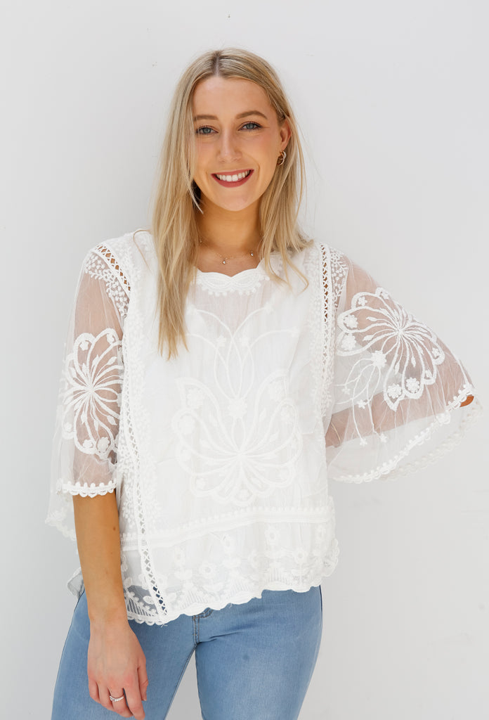 Delicate Wishes Top (A8776)