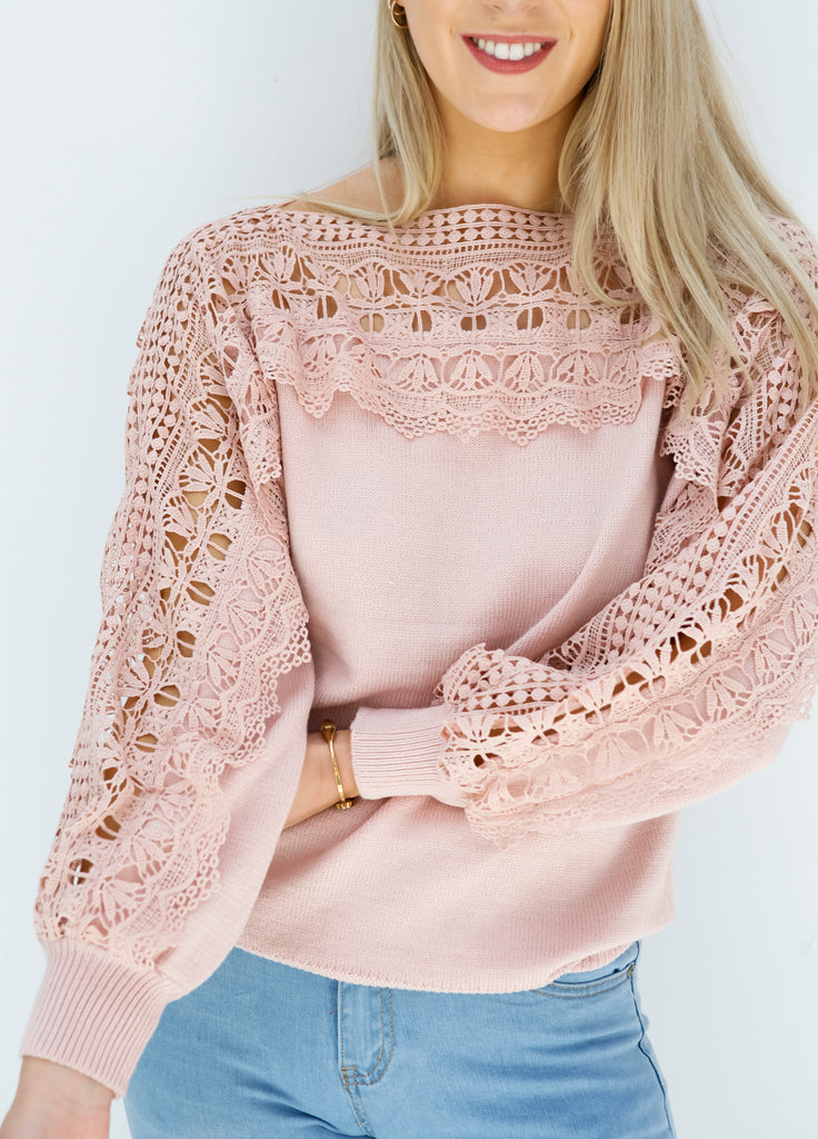 Oh So Lacey Sweater (B5707)