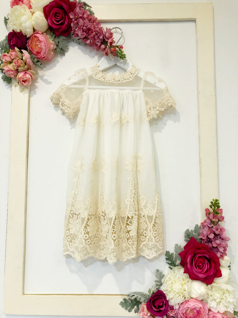 Cherub Dress - Beige