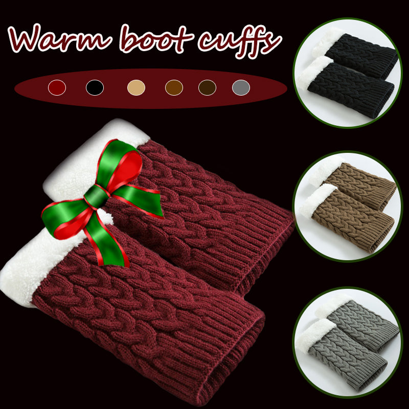 Women's Knitted Warm Kneepads Twisted Socks