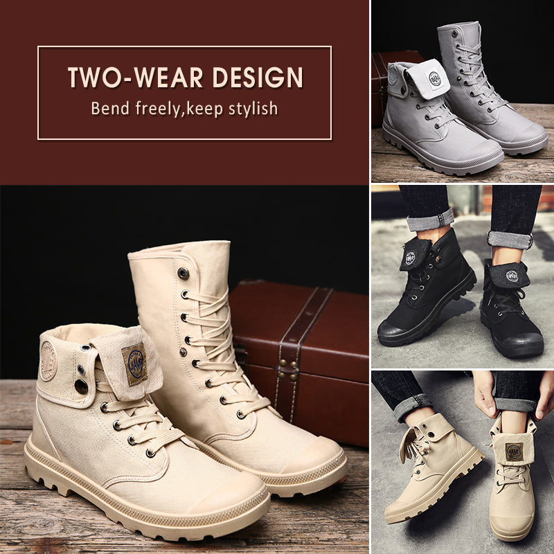 Women's Fashion Breathable High-Top Canvas Shoes