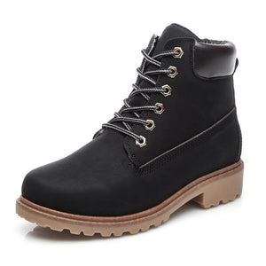 Women's Casual Lace Up Martin Boots