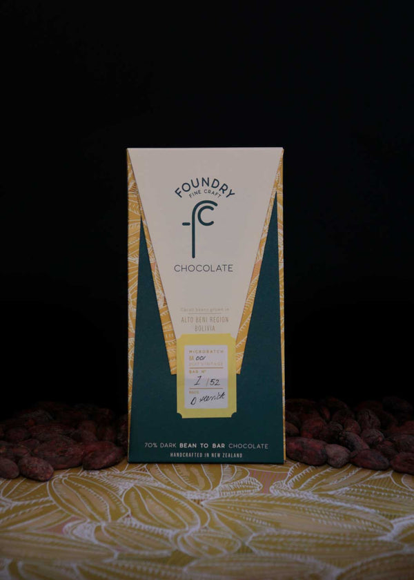 Foundry Chocolate Alto Beni Bolivia 70% Dark Chocolate