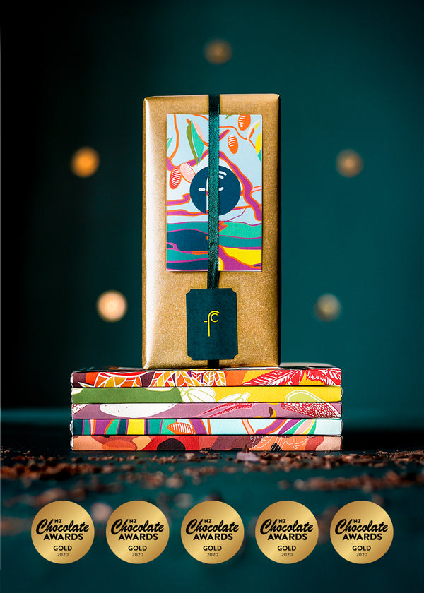 Five Origin Gift Pack -  NZ Chocolate Awards Gold Winning 70's