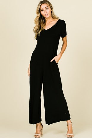 JUMP IN SOLID JUMPSUIT