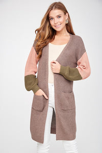 COLOUR BLOCK CARDI