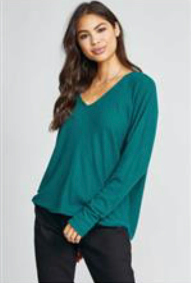 ROLLING RIVER RIB KNIT TOP
