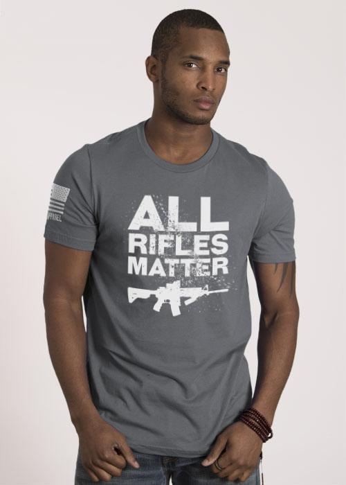 All Rifles Matter Men's T Shirt Grey