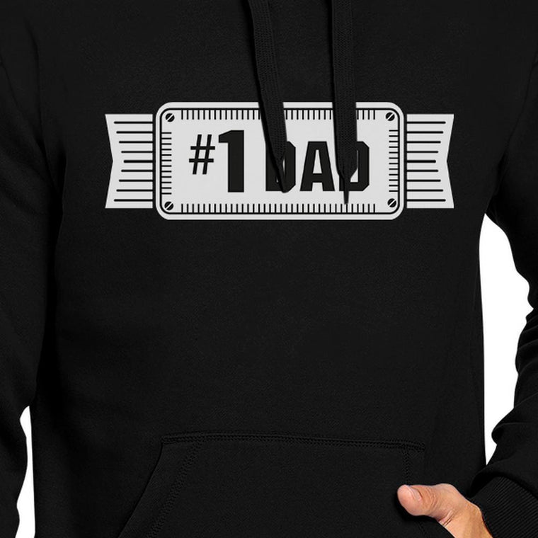 #1 Dad Unisex Black Hoodie For Men Perfect Dad's Birthday Gifts