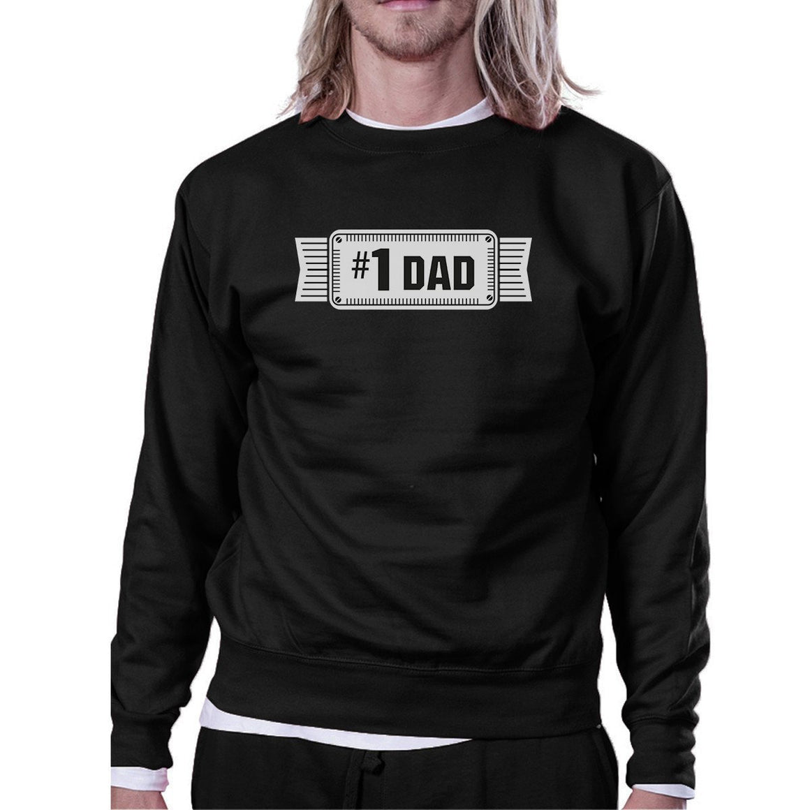 #1 Dad Unisex Black Sweatshirt For Men Perfect Dad's Birthday Gifts