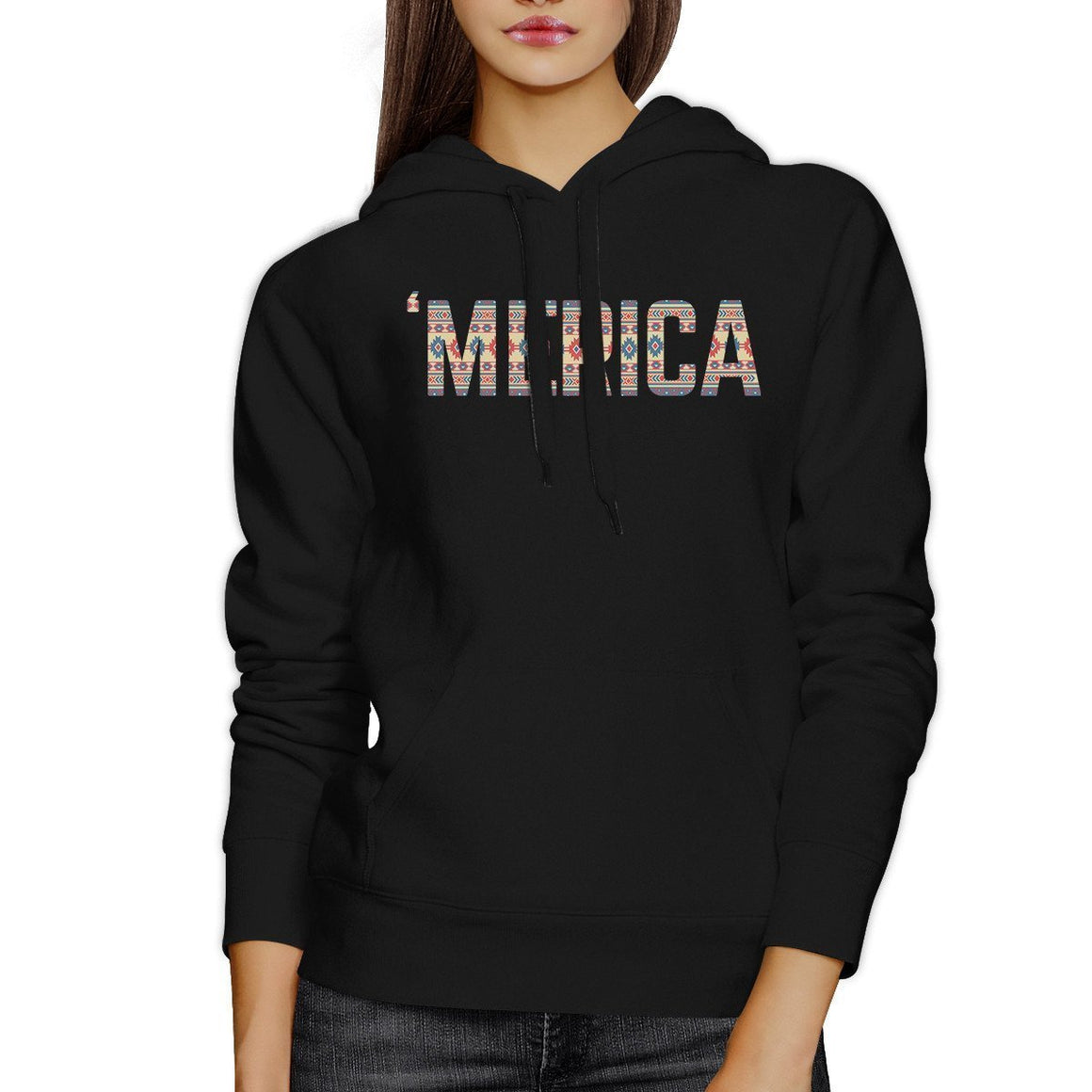 'Merica Unique Tribal Pattern Pullover Hoodie For 4th Of July